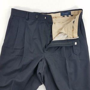 Burberry London Dress Pants Trouser Pleated
